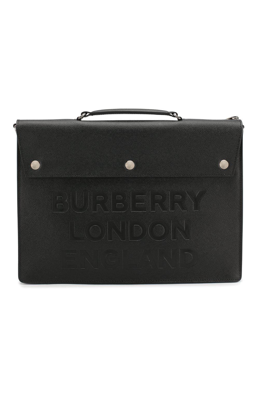 b8f396c3002f Мужской черный кожаный портфель BURBERRY — купить за 114000 руб. в ...