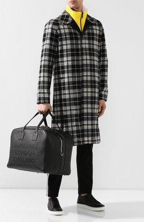 Мужская кожаная дорожная сумка BURBERRY черного цвета, арт. 8012524 | Фото 2