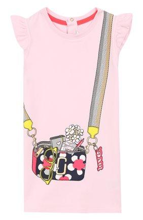 Женский хлопковое платье MARC JACOBS (THE) розового цвета, арт. W02120/2A-3A | Фото 1