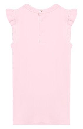 Женский хлопковое платье MARC JACOBS (THE) розового цвета, арт. W02120/2A-3A | Фото 2