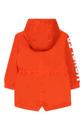Детского ветровка с капюшоном MONCLER ENFANT оранжевого цвета, арт. E1-951-42104-05-68352 | Фото 2