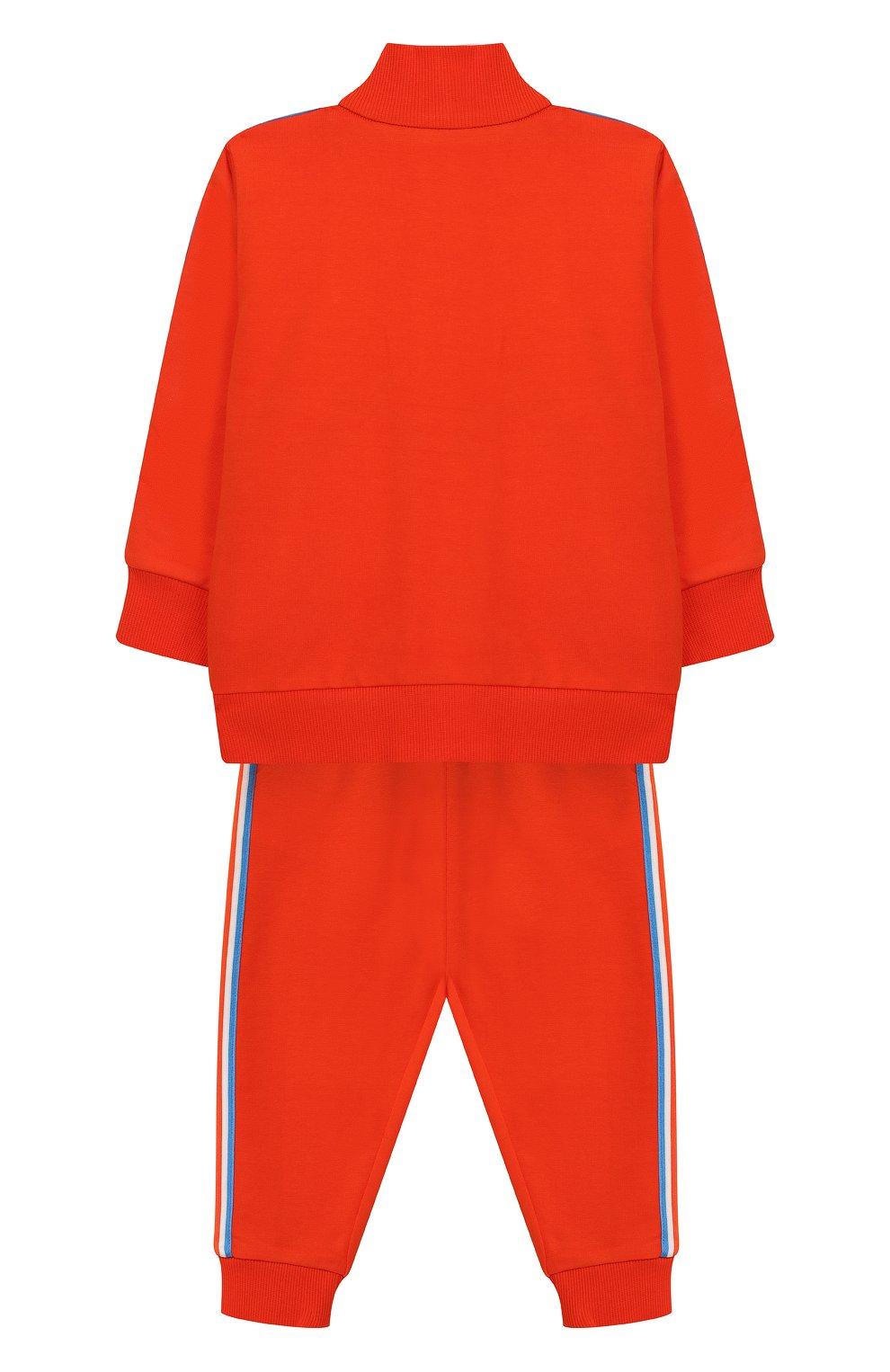 Детский комплект из хлопкового кардигана и брюк MONCLER ENFANT оранжевого цвета, арт. E1-951-88126-05-809AC | Фото 2