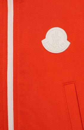 Детский комплект из хлопкового кардигана и брюк MONCLER ENFANT оранжевого цвета, арт. E1-951-88126-05-809AC | Фото 4