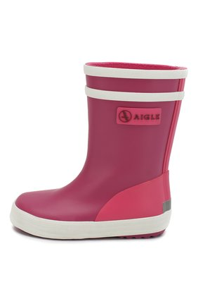 Детские резиновые сапоги AIGLE розового цвета, арт. 382341/BABY FLAC C0L | Фото 2