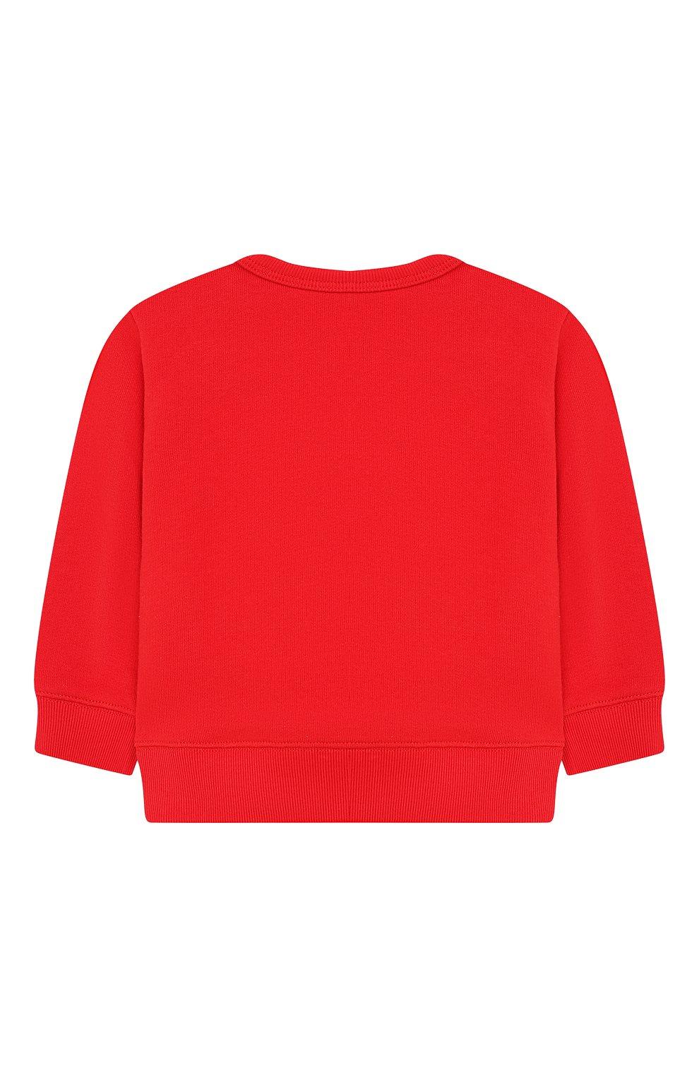 Детский хлопковый свитшот GUCCI красного цвета, арт. 548128/XJAJH   Фото 2