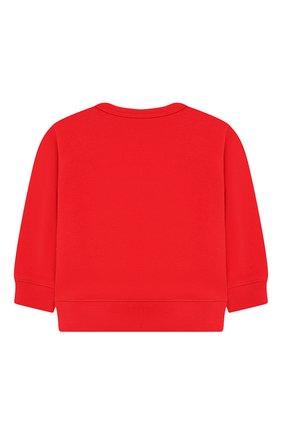 Детский хлопковый свитшот GUCCI красного цвета, арт. 548128/XJAJH | Фото 2