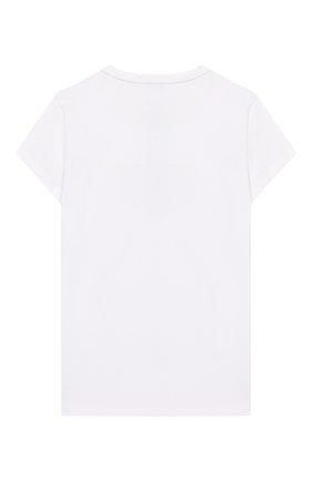 Детская хлопковая футболка EA 7 белого цвета, арт. 3GFT53/FJ29Z | Фото 2
