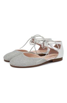 Туфли из кожи и текстиля | Фото №1