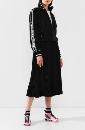 Текстильные кроссовки Sorrento Dolce & Gabbana розовые | Фото №2