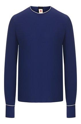 Женская блузка MARNI синего цвета, арт. CAMA0037I2/TA089 | Фото 1