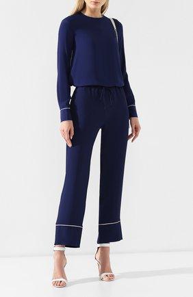 Женская блузка MARNI синего цвета, арт. CAMA0037I2/TA089 | Фото 2