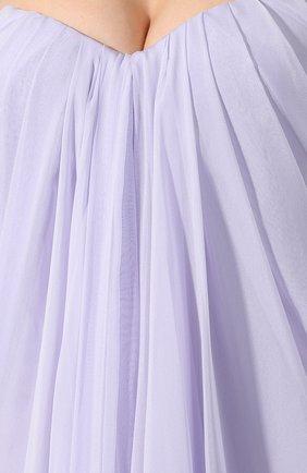 Шелковое платье Alexander McQueen сиреневое | Фото №5