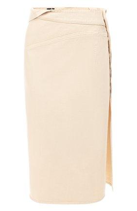 Женская джинсовая юбка JACQUEMUS бежевого цвета, арт. 191DE05/70130 | Фото 1