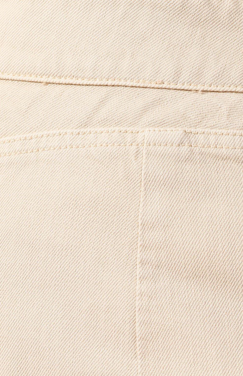 Женская джинсовая юбка JACQUEMUS бежевого цвета, арт. 191DE05/70130 | Фото 5
