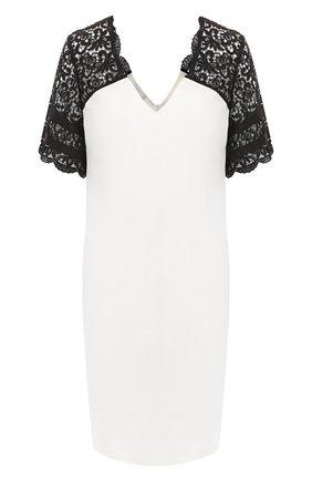Женское льняное платье ESCADA SPORT черно-белого цвета, арт. 5029198 | Фото 1