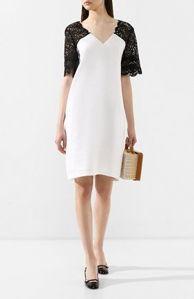 Женское льняное платье ESCADA SPORT черно-белого цвета, арт. 5029198 | Фото 2