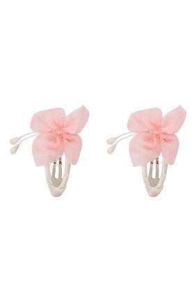 Детская комплект из двух заколок butterfly JUNEFEE розового цвета, арт. 5432 | Фото 1