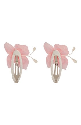 Детская комплект из двух заколок butterfly JUNEFEE розового цвета, арт. 5432 | Фото 2