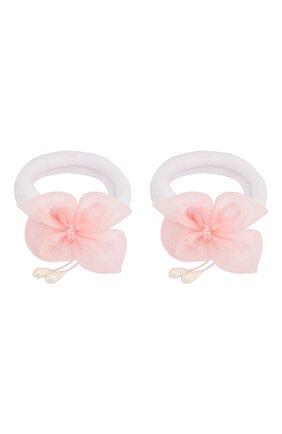 Детская комплект из двух резинок butterfly JUNEFEE розового цвета, арт. 5433 | Фото 1