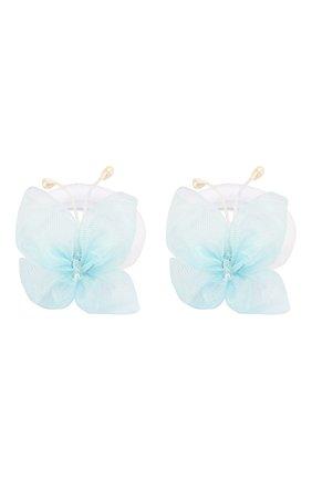 Детская комплект из двух резинок butterfly JUNEFEE голубого цвета, арт. 5904 | Фото 1