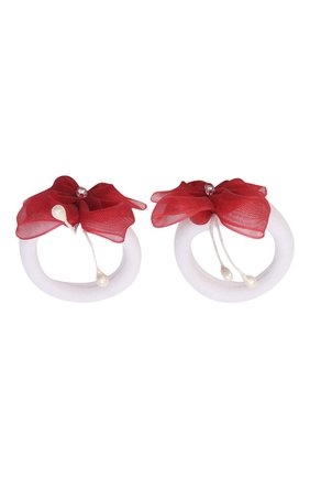 Детская комплект из двух резинок butterfly JUNEFEE красного цвета, арт. 5907 | Фото 1