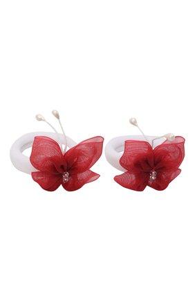 Детская комплект из двух резинок butterfly JUNEFEE красного цвета, арт. 5907 | Фото 2