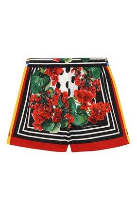 Детские хлопковые шорты DOLCE & GABBANA разноцветного цвета, арт. L52Q30/LA307/2-6 | Фото 1