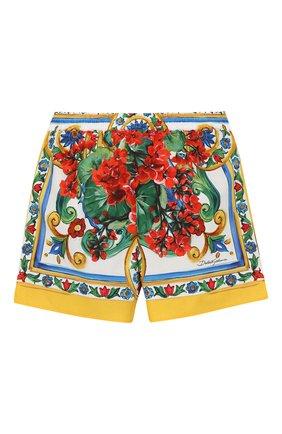 Детские хлопковые шорты DOLCE & GABBANA разноцветного цвета, арт. L52Q30/LA307/2-6 | Фото 2