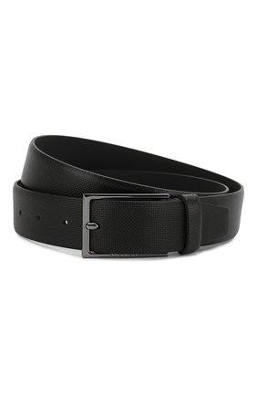 Мужской кожаный ремень BOSS черного цвета, арт. 50262032 | Фото 1