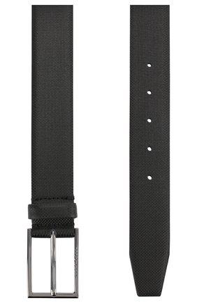 Мужской кожаный ремень BOSS черного цвета, арт. 50262032 | Фото 2