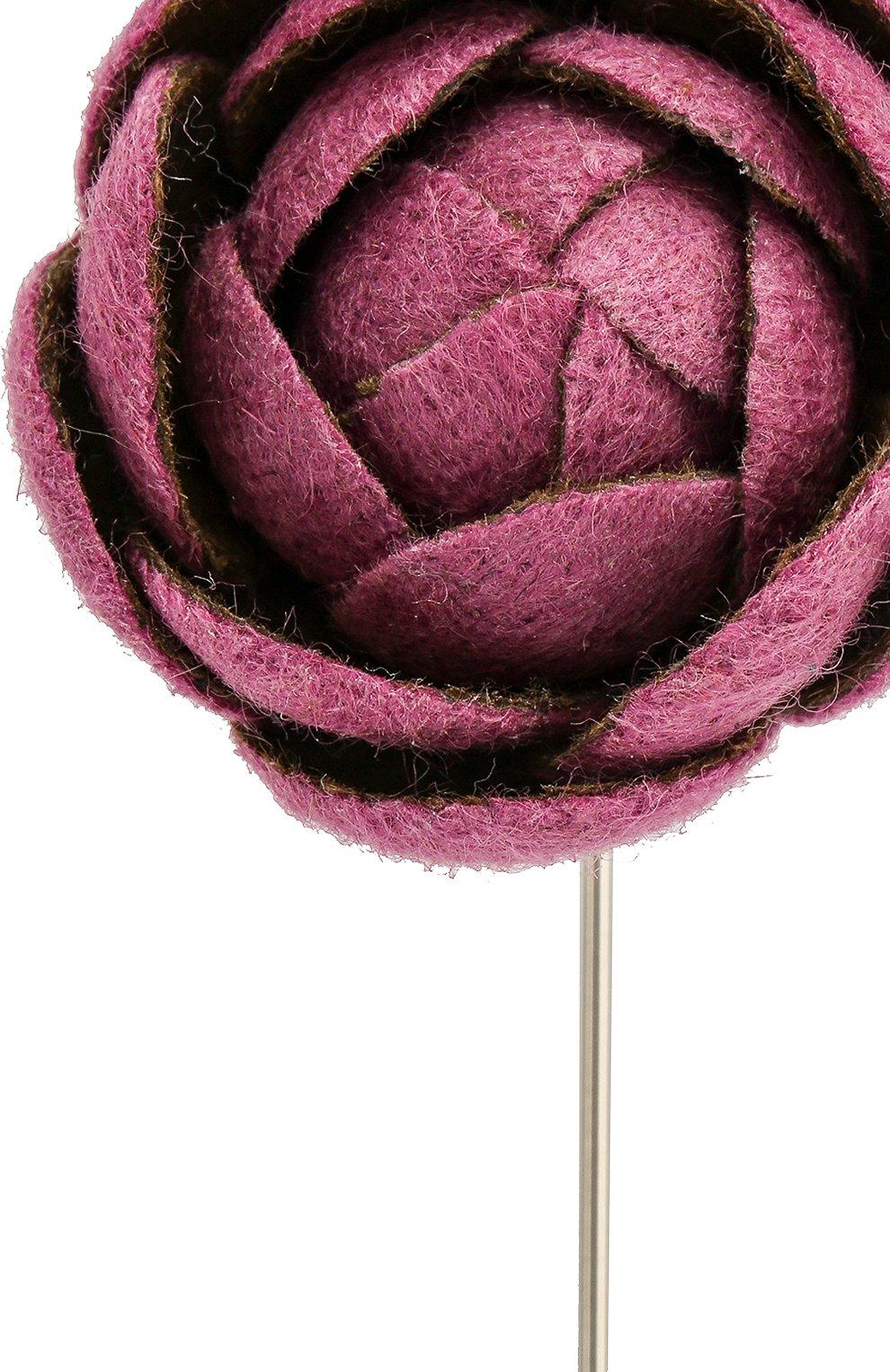 Мужская брошь FLOWER ME розового цвета, арт. CMML-CM016010S   Фото 3
