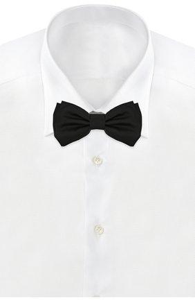 Мужской шелковый галстук-бабочка BOSS черного цвета, арт. 50307918 | Фото 2