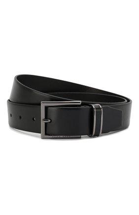 Мужской кожаный ремень BOSS черного цвета, арт. 50397943 | Фото 1
