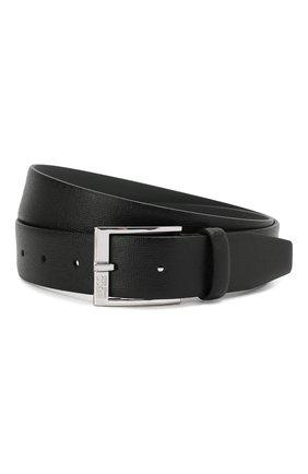 Мужской кожаный ремень BOSS черного цвета, арт. 50386182 | Фото 1