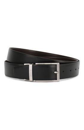 Мужской кожаный ремень BOSS черного цвета, арт. 50408135 | Фото 1