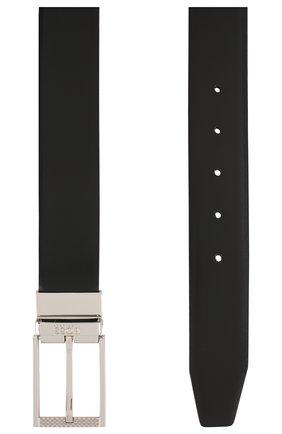 Мужской кожаный ремень BOSS черного цвета, арт. 50408135 | Фото 2