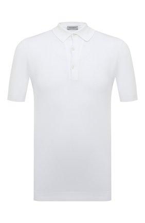Мужское хлопковое поло JOHN SMEDLEY белого цвета, арт. ADRIAN | Фото 1