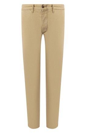 Мужской хлопковые брюки RRL хаки цвета, арт. 782559351 | Фото 1