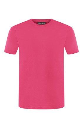Мужская хлопковая футболка  GIORGIO ARMANI розового цвета, арт. 3GST53/SJEJZ | Фото 1 (Рукава: Короткие; Статус проверки: Проверено, Проверена категория; Материал внешний: Хлопок; Длина (для топов): Стандартные; Принт: Без принта; Стили: Кэжуэл)