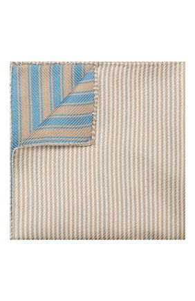 Мужской шелковый платок GIORGIO ARMANI бежевого цвета, арт. 360023/9P912 | Фото 1