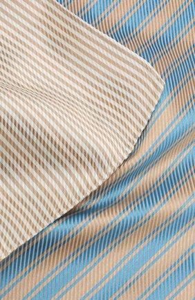 Мужской шелковый платок GIORGIO ARMANI бежевого цвета, арт. 360023/9P912   Фото 2