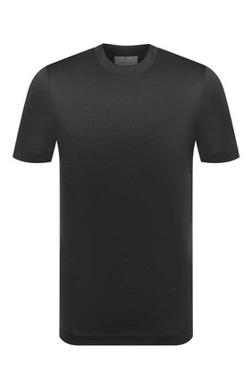 Мужская хлопковая футболка CANALI хаки цвета, арт. T0356/MJ00002   Фото 1