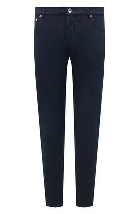 Мужские джинсы прямого кроя BRUNELLO CUCINELLI темно-синего цвета, арт. M0Y16J2010 | Фото 1