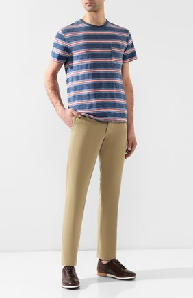 Мужская хлопковая футболка  RRL синего цвета, арт. 782726320 | Фото 2