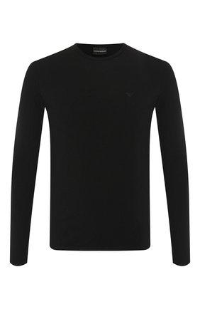 Мужская хлопковый лонгслив EMPORIO ARMANI черного цвета, арт. 8N1T81/1J0AZ | Фото 1