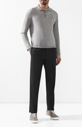 Мужской хлопковые брюки BILLIONAIRE черного цвета, арт. B19C MRT0484 BTE004N | Фото 2