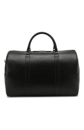Мужская кожаная дорожная сумка CANALI черного цвета, арт. P325158/NA00053 | Фото 1 (Материал: Натуральная кожа; Ремень/цепочка: На ремешке)