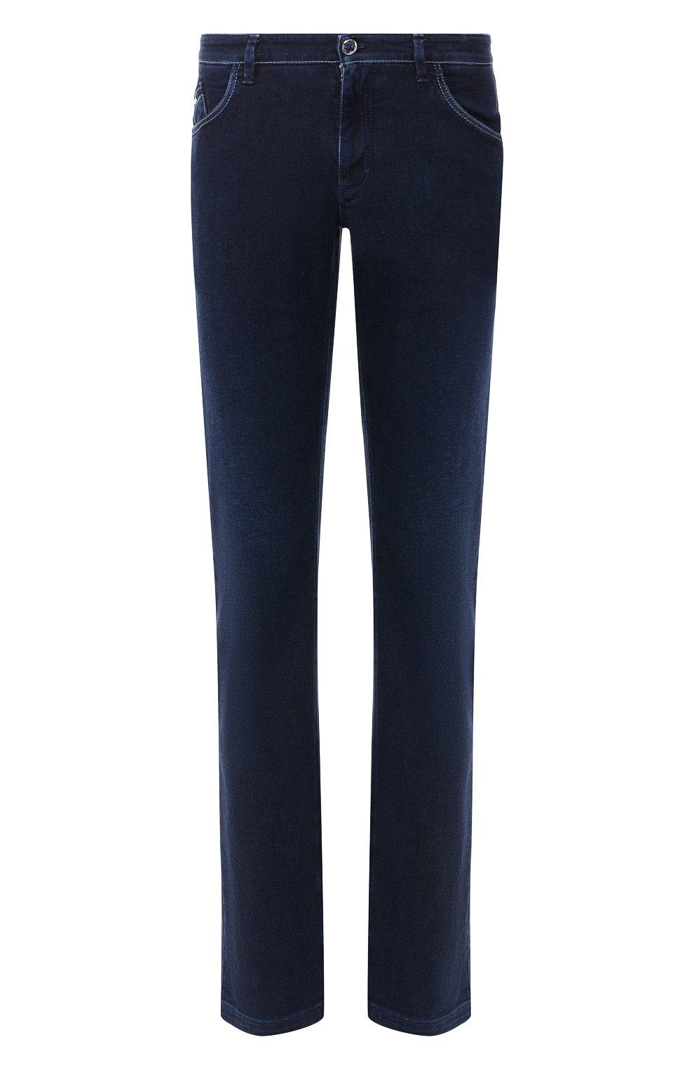 Мужские джинсы прямого кроя ZILLI темно-синего цвета, арт. MCR-00012-DEJA1/S001   Фото 1