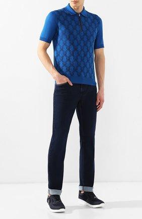 Мужские джинсы прямого кроя ZILLI темно-синего цвета, арт. MCR-00012-DEJA1/S001 | Фото 2