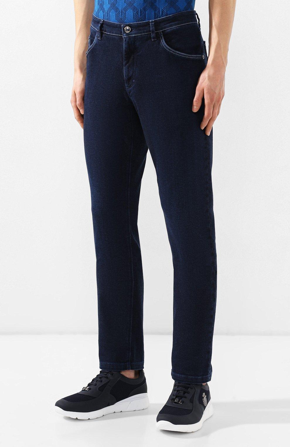 Мужские джинсы прямого кроя ZILLI темно-синего цвета, арт. MCR-00012-DEJA1/S001   Фото 3